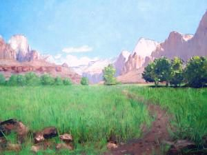 Frederick Dellenbaugh painting of the western United States