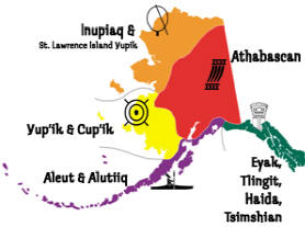 tribal map of Alaskan natives